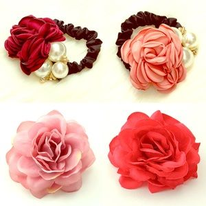 Accessories - Floral hair accessories, beauty, hairstyle